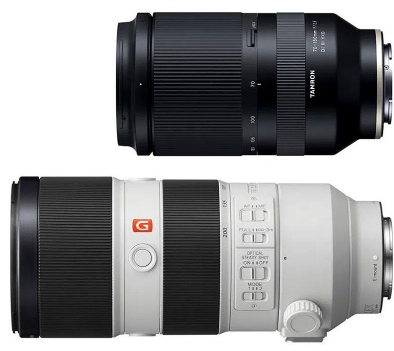Sony FE 70-200mm f2.8 GM OSS versus Tamron 70-180 mm f/2,8 Di III VXD
