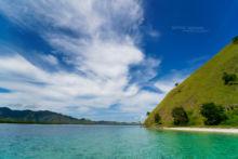 Habitat, Laticauda colubrina, paysage, landscape, sea, ocean, mer, plage, Komodo, Indonesia, Matthieu Berroneau